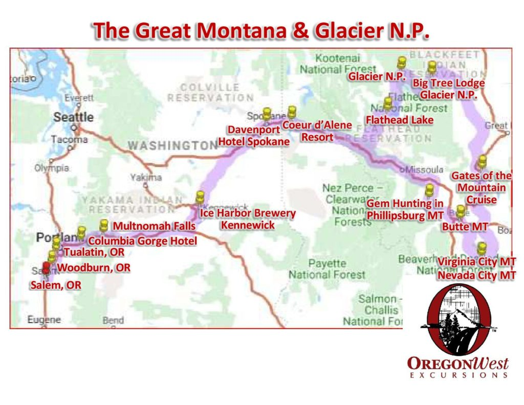 Great Montana Glacier National Park August 20th 26th 2020 Oregonwest Excursions